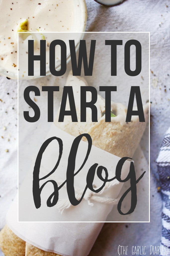 How to Start a Blog - This breaks the process down into several super easy steps. If you've been thinking about starting a blog, stop hesitating and just go for it!  TheGarlicDiaries.com