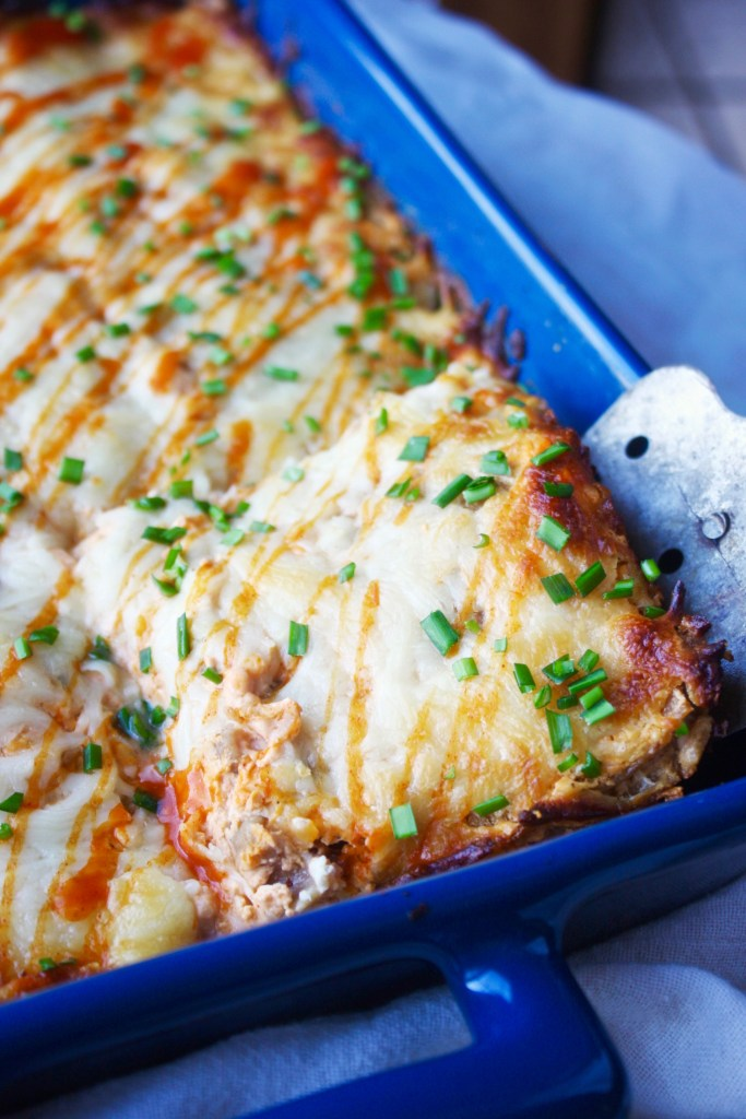 Buffalo Chicken Lasagna - A new and delicious twist on the classic dish. If you are a buffalo chicken lover, this is right up your alley! TheGarlicDiaries.com