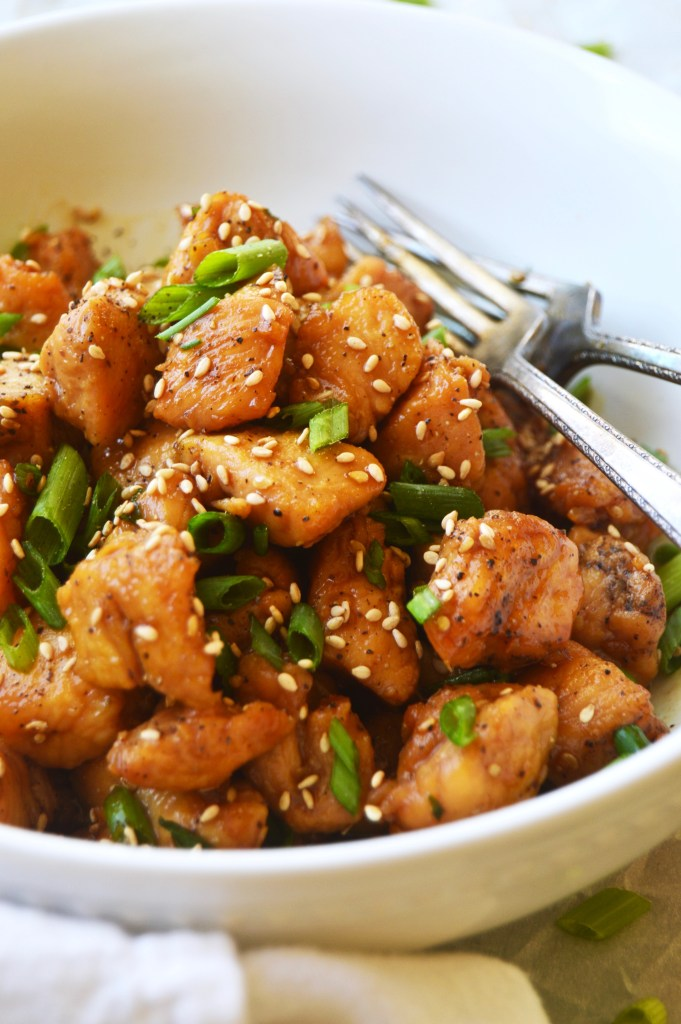 Super Simple 5 Ingredient Chicken Teriyaki - This recipe is impossibly delicious for how quick and easy it is! Done in under 30 minutes, this chicken will be a new family favorite in your house! TheGarlicDiaries.com