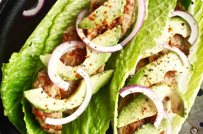 Turkey Burger Lettuce Wraps