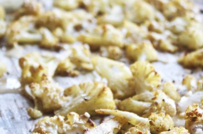 Roasted Cauliflower with Lemon Tahini Sauce