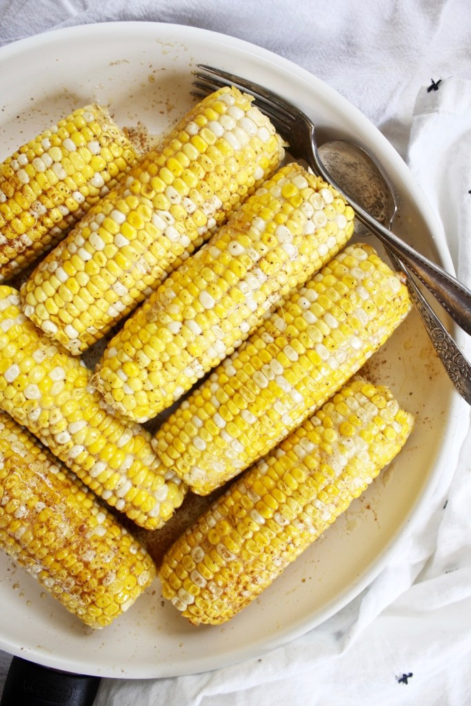 Roasted Corn with Cumin Brown Butter - TheGarlicDiaries.com