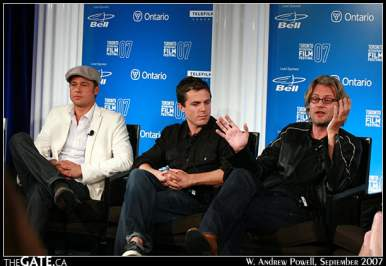 Brad Pitt, Casey Affleck and Andrew Dominik