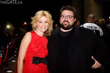 Elizabeth Banks and Kevin Smith