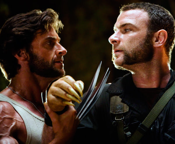 Hugh Jackman and Liev Schreiber in X-Men Origins Wolverine