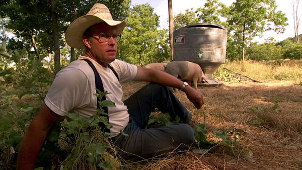 Joel Salatin in a scene from 'Food, Inc.'