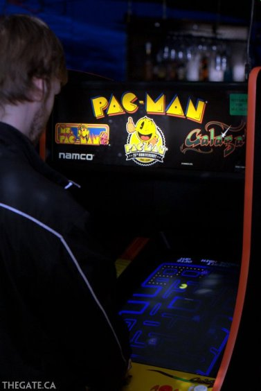 Pac-Man on an original arcade cabinet