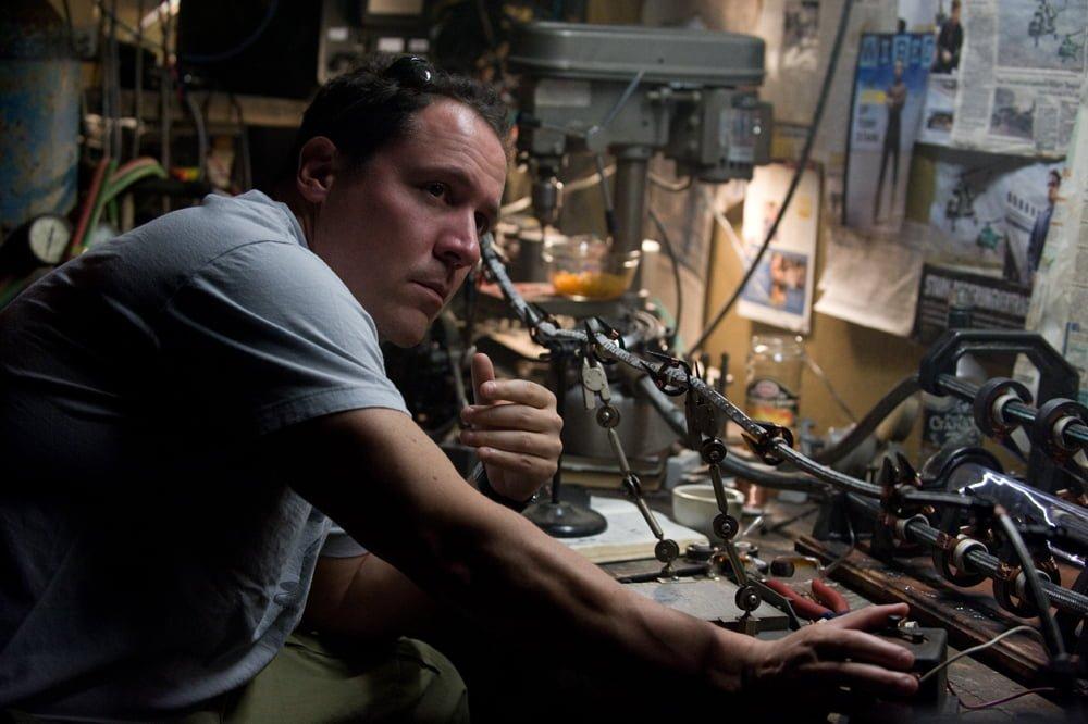 Jon Favreau on the set