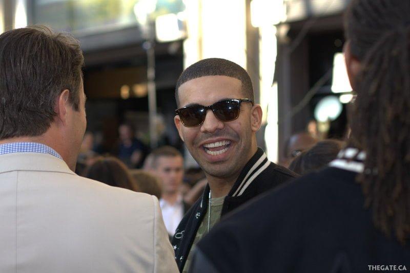 A candid shot of Drake