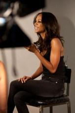 Behind the scenes with Zoe Saldana #3