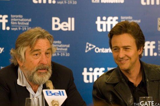 Robert De Niro and Edward Norton