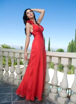 Jayde Nicole - Red dress