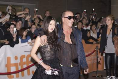Rebecca Wang and Mickey Rourke