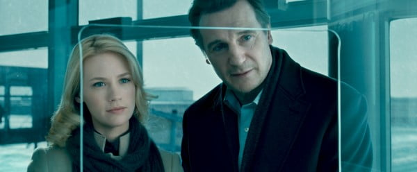 January Jones and Liam Neeson in Unknown