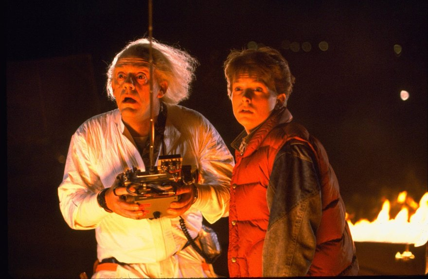 Christopher Lloyd and Michael J. Fox in Back to the Future