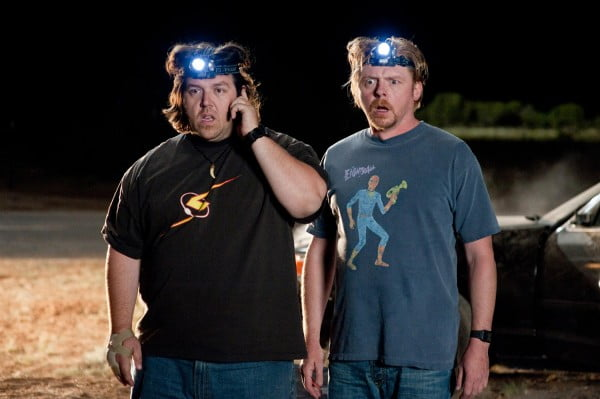 A scene from Paul starring Nick Frost and Simon Pegg