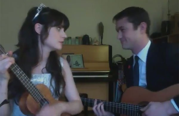 Zooey Deschanel and Joseph Gordon-Levitt