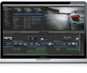Final Cut Pro on a MacBook Pro
