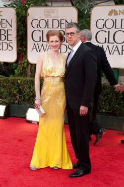 Mireille Enos and Alan Ruck
