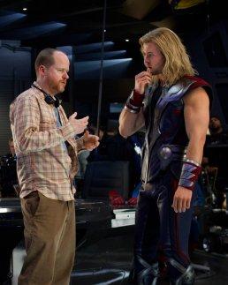 Joss Whedon and Chris Hemsworth