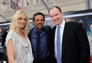 Sunrise Coigney, Mark Ruffalo and Kevin Feige