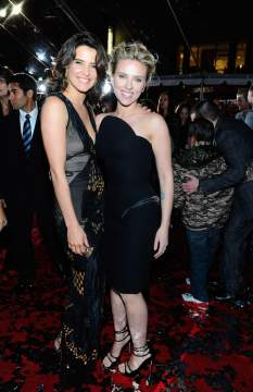 Cobie Smulders and Scarlett Johansson