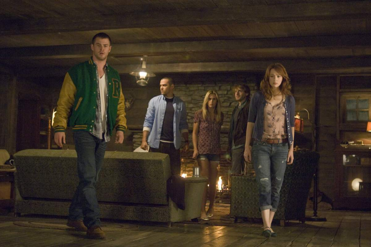 A scene from Cabin in the Woods