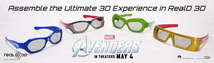The Avengers RealD 3-D Glasses