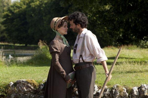 Keri Russell and Bret Mckenzie in Austenland