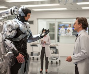Joel Kinnaman and Gary Oldman in RoboCop