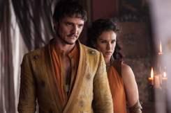Pedro Pascal as Oberyn Martell and Indira Varma as Ellaria Sand