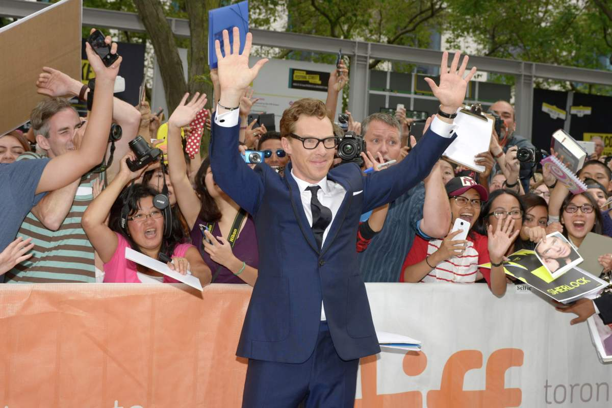 Benedict Cumberbatch at The Imitation Game premiere