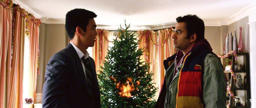 Harold And Kumar Christmas.The Gate John Cho And Kal Penn On A Very Harold Kumar