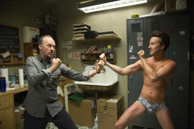 Michael Keaton and Edward Norton
