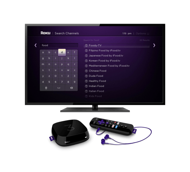Roku 3 with Search