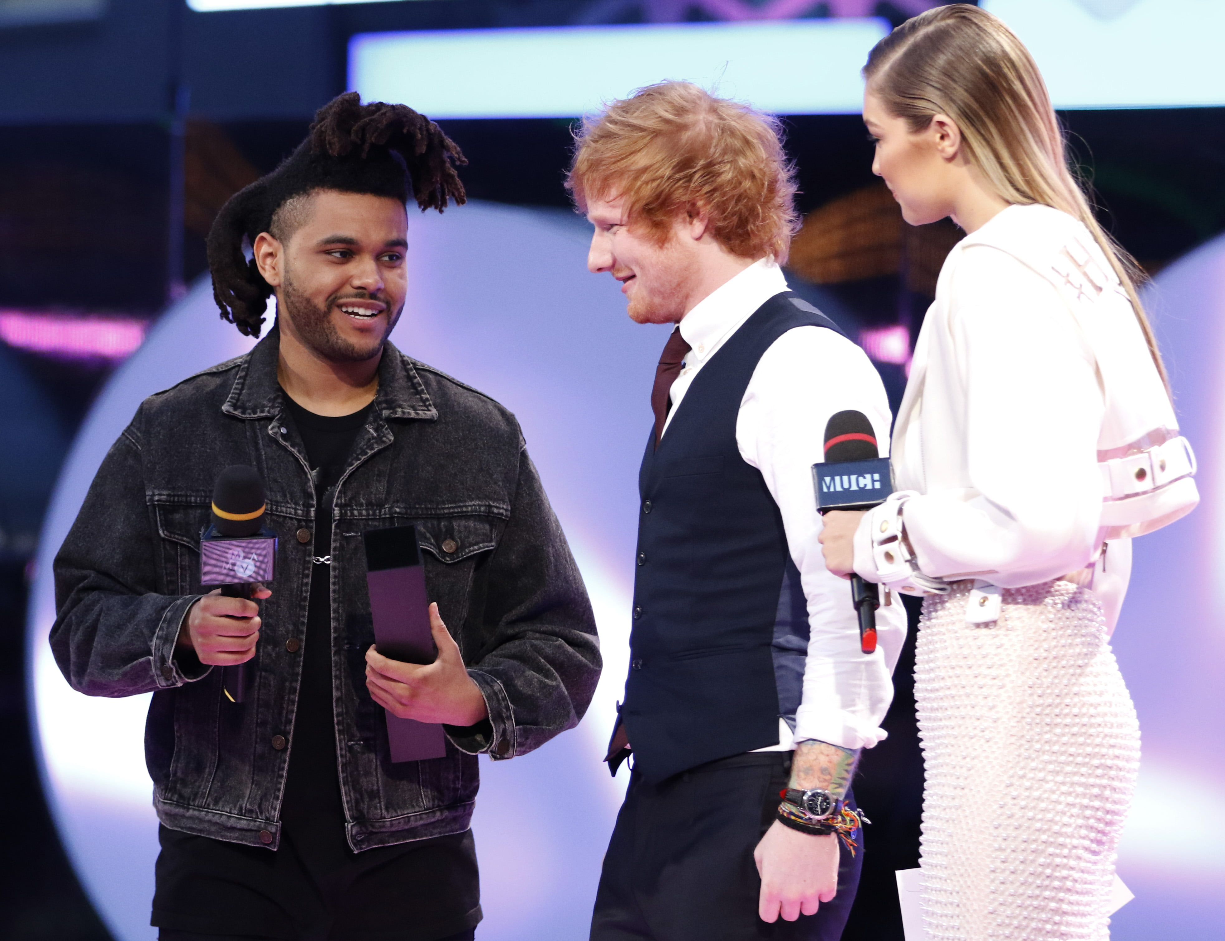 The Weeknd, Ed Sheeran & Gigi Hadid