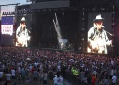 Neil Young on stage at WayHome
