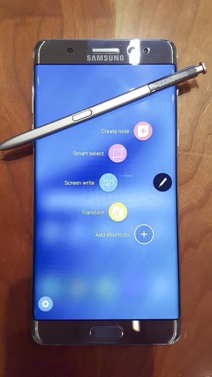 Samsung Galaxy Note7 and S Pen