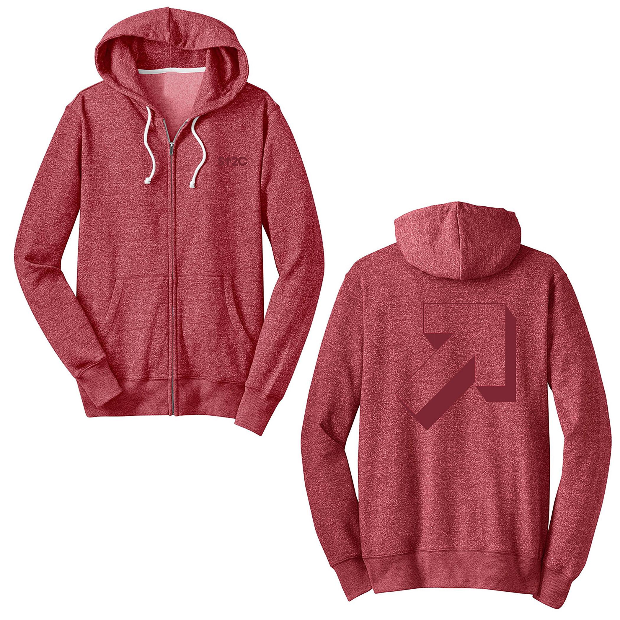 Graphic Arrow Marbled Fleed hoodie