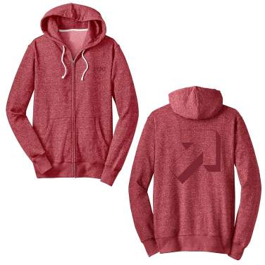 Graphic Arrow Marbled Fleed hoodie