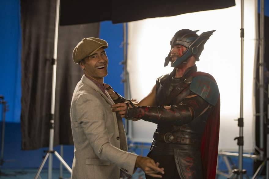 Director Taika Waititi and Chris Hemsworth