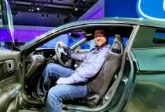 Sitting in the Ford Bullitt Mustang