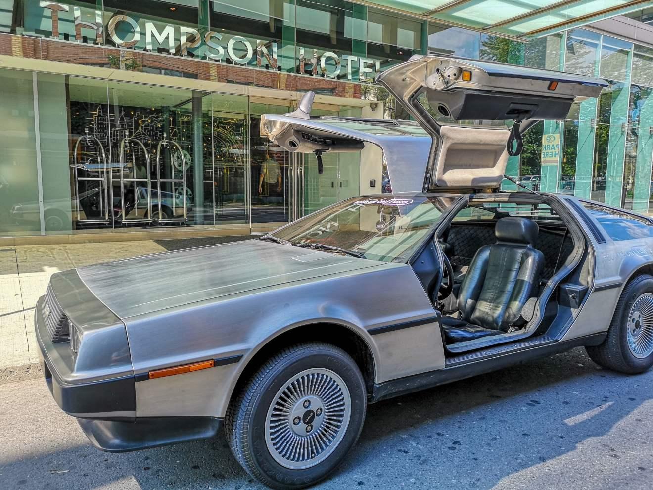 Turo's DeLorean at Bask-It-Style