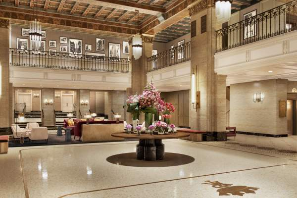 Rendering of Fairmont Royal York's new lobby & arrival experience