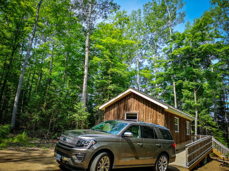 Ford Expedition at our Ontario Parks cabin