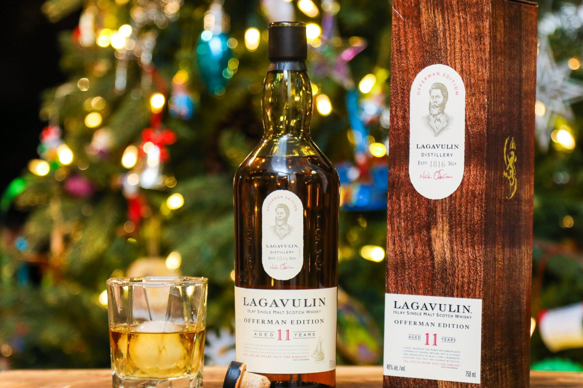 Lagavulin Offerman Edition 11 Year Old single malt Scotch whisky