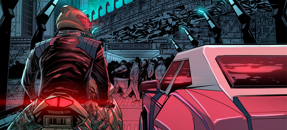 The Gatecrashers Issue 09 Cover Detail