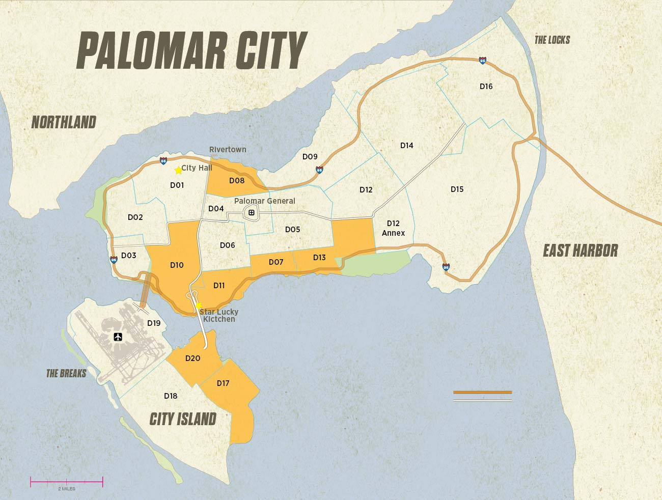 Palomar City Map