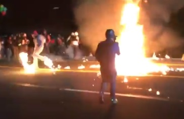 Insane Video Portland Rioter Throwing Molotovs At Police Accidentally Hits Fellow Leftist Lights Him On Fire The Patriots Report
