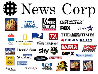 Image showing all the tabloids owned by New Corp